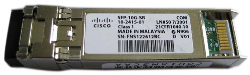 SFP-10G-SR] Оптический SFP+ трансивер Cisco SFP-10G-SR. 10 GEth. 10GBASE-SR, 850-nm, 300 м, MultiMode, LC/PC